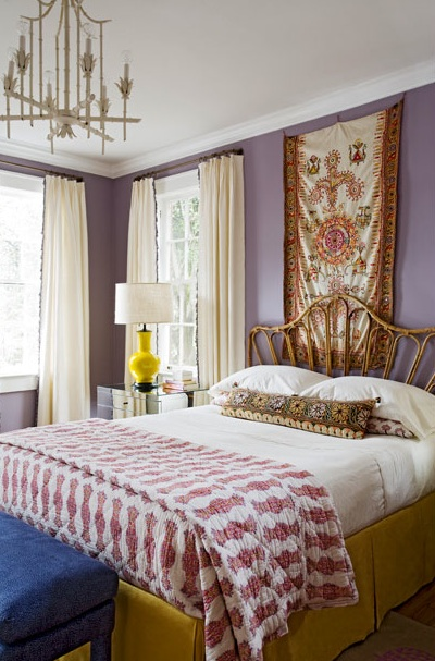 Purple Bedroom Bench: Angie Hranowski