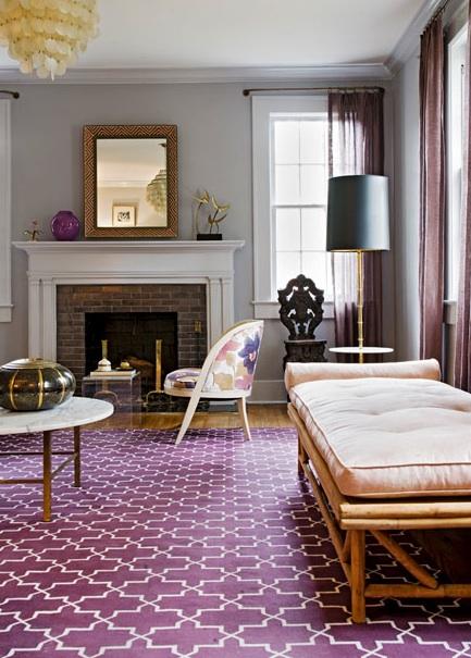 Trellis Rug Contemporary Living Room Angie Hranowski