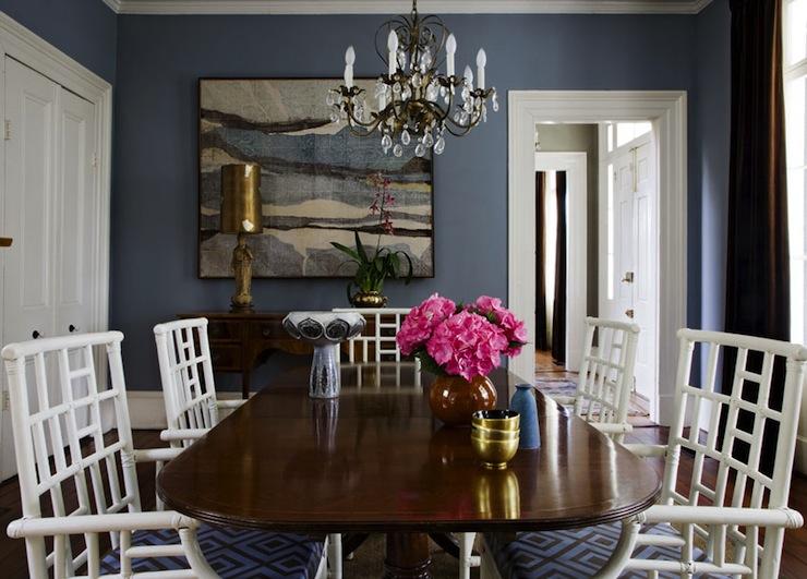 Blue Dining Room Contemporary Angie Hranowski