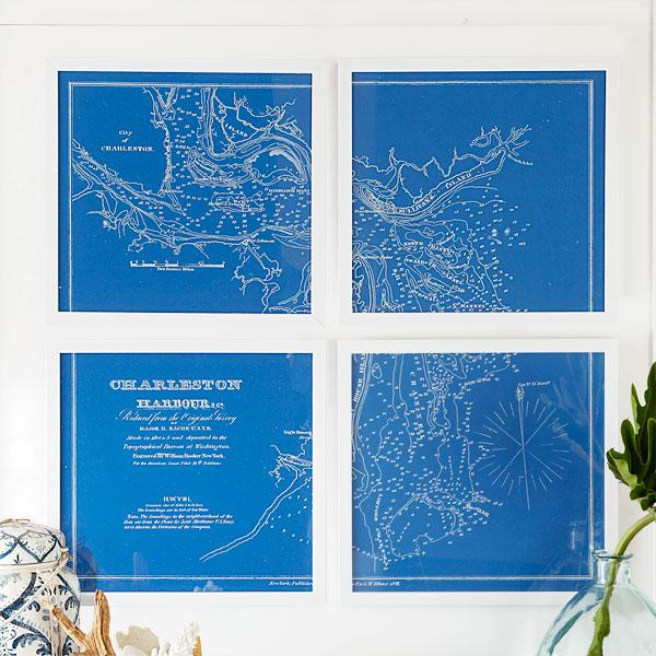 Nautical Charts Wall Art | Wall Art | Wisteria