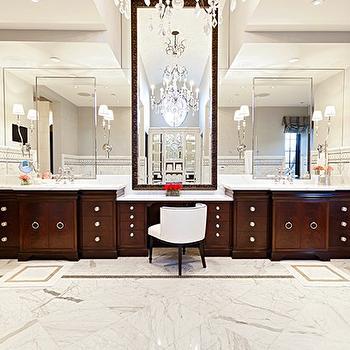 Espresso Cabinets, Traditional, bathroom, Elizabeth Kimberly Design