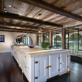 Kitchen Ceiling Beams, Transitional, kitchen, Forest Studio