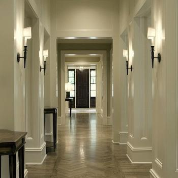 Kemp Hall Studio - entrances/foyers - chevron, herringbone, pattern, wood floors, herringbone floor, herringbone wood floor,  Stunning long &