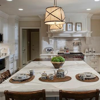 Gray Kitchen Island Contemporary Kitchen Summerour Architects