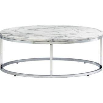 Tables - smart round marble top coffee table in accent tables | CB2 - smart, round, coffee table