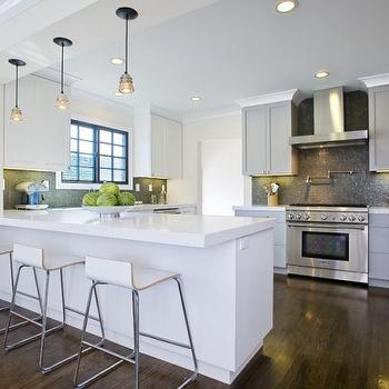 Gray Shaker Cabinets, Contemporary, kitchen, Amoroso Design