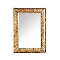 Mirrors - Product Details - Gold Mosaic Mirror - gold, mosaic, mirror