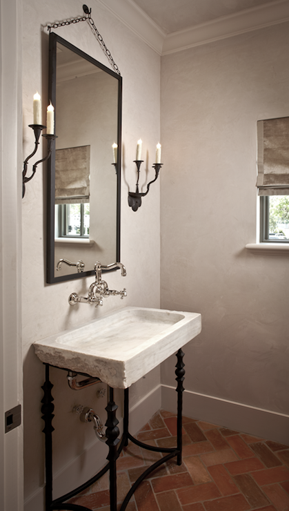 Stone Washstand - French - bathroom - The Owen Group