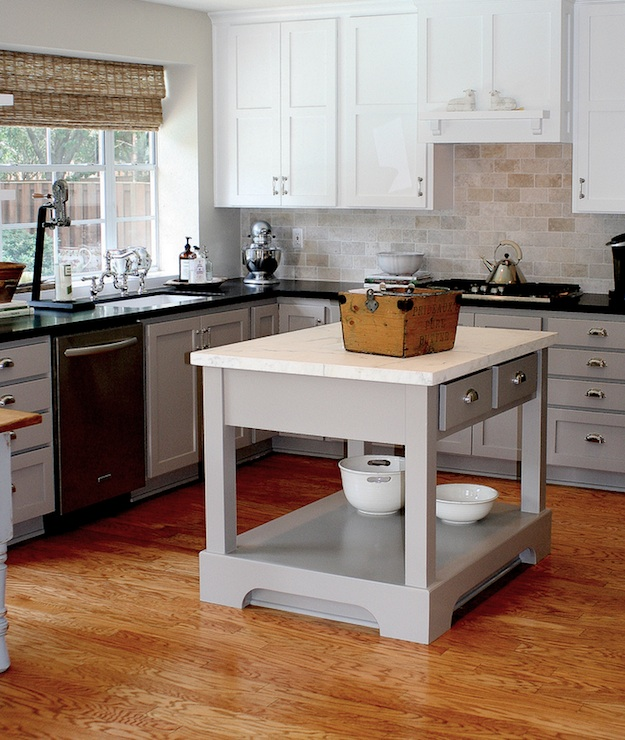 Gray Kitchen Cabinets, Transitional, kitchen, Benjamin Moore Rockport