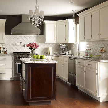 Bianco Antico Granite Countertops, Contemporary, kitchen, Valspar Italian Leather, Karen Viscito Interiors