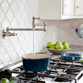 Arabesque Tile, Contemporary, kitchen, Karen Viscito Interiors