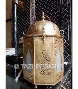 Decor/Accessories - Moroccan Lantern - Brass Dome : Moroccan Lamps & Lanterns : Moroccan Outdoor Lanterns : Tazi Designs : : : - moroccan, lantern