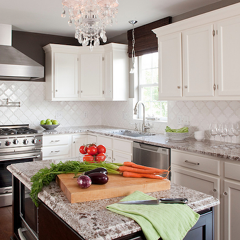 Bianco Antico Granite, Contemporary, kitchen, Valspar Italian Leather, Karen Viscito Interiors