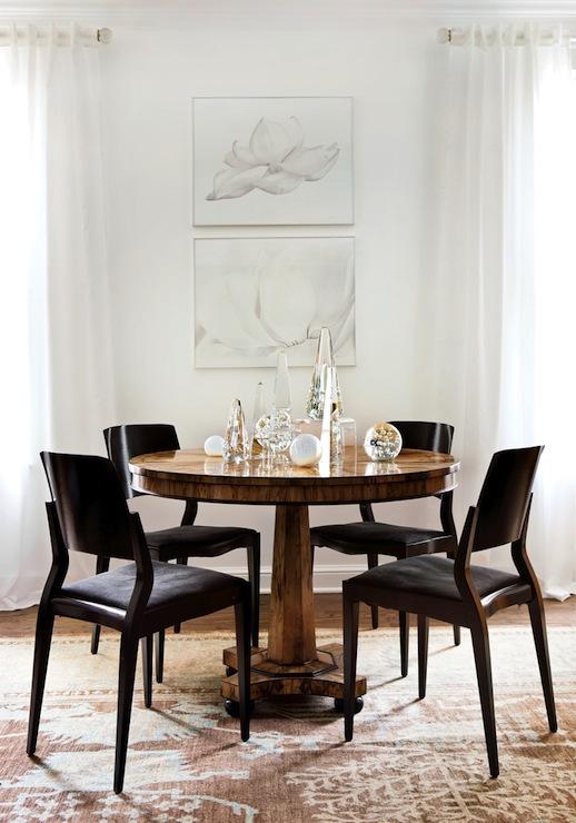 Mahogany pedestal dining table transitional dining room atlanta homes lifestyles - Dining room tables atlanta ...