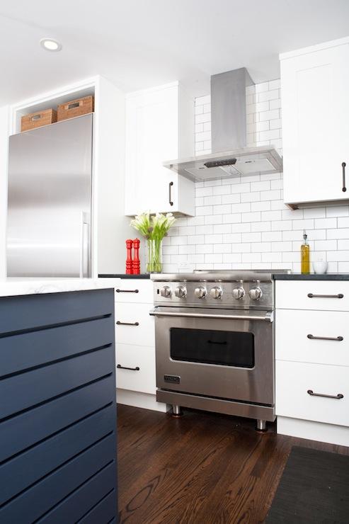 Blue KItchen Island  Contemporary  kitchen  Regan Baker Design