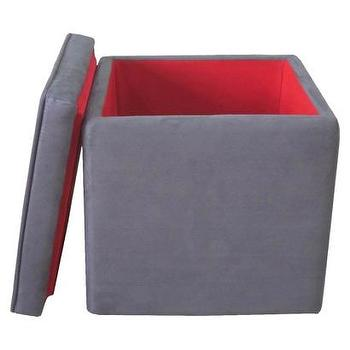 Seating - Storage Ottoman Grey : Target - gray, storage, ottoman