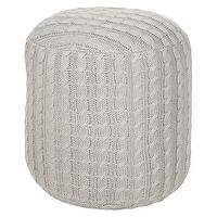 Seating - Decorative Palate Pouf Oyster Gray : Target - gray, knitted, pouf