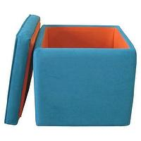 Seating - Storage Ottoman Teal : Target - teal, blue, storage, ottoman