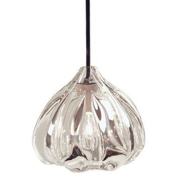 Lighting - Thick Clear Urchin Pendant by Caleb Siemon for $1000 - thick, clear, urchin, pendant