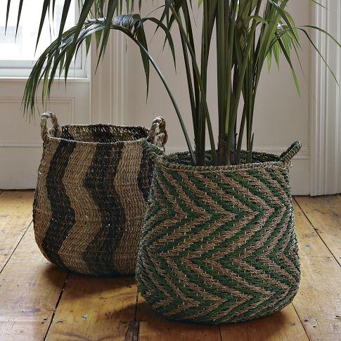 Patterned Baskets, west elm