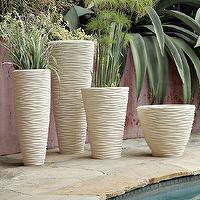 Decor/Accessories - Textured Stone Planters | west elm - textured, stone, planters