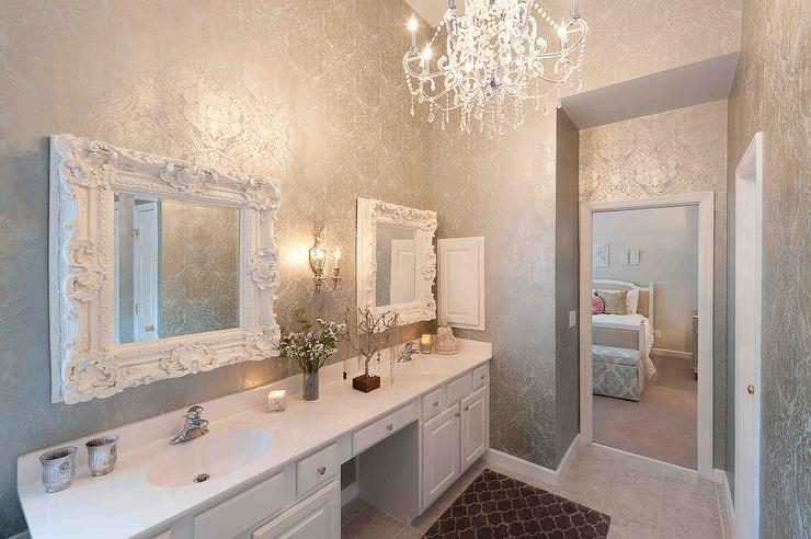 bathrooms - damask - Design, decor, photos, pictures, ideas ...