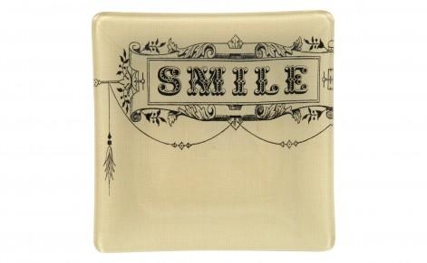 Decor/Accessories - Smile Square Tray - Tabletop - Accessories | Jayson Home - smile, square, tray
