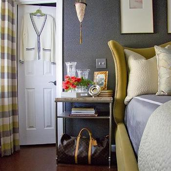 Yellow Headboard, Transitional, bedroom, Christopher Patrick Interiors