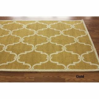 Handmade Luna Marrakesh Trellis Wool Rug (7'6 x 9'6), Overstock.com