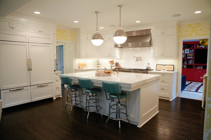 Kitchens Teal Bar Stools