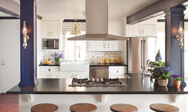 Kitchen Island Exhaust Hood, Transitional, kitchen, Amy Meier Design