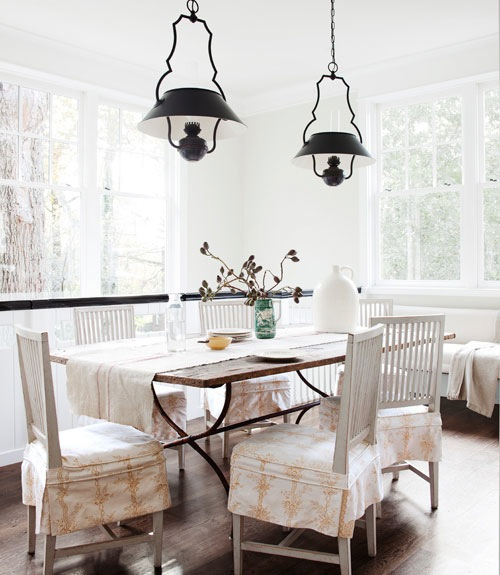 Gustavian Chairs Cottage Dining Room Benjamin Moore