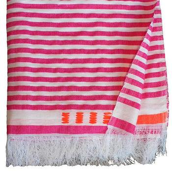Bedding - Medium Blanket 1 | Shoppe by Amber Interior Design - pink, stripe, blanket