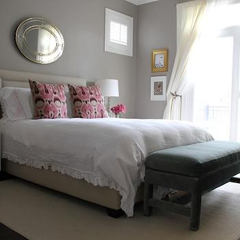 Gray Bedroom Colors, Transitional, bedroom, Benjamin Moore Plymouth Rock, Alexandra Berlin Design