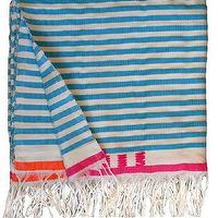 Bedding - Medium Blanket 3 | Shoppe by Amber Interior Design - blue, stripe, blanket