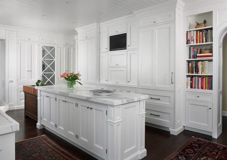 TV Niche  Transitional  kitchen  Exquisite Kitchen Design