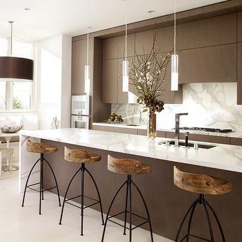 Espresso Cabinets, Modern, kitchen, John Maniscalco Architecture