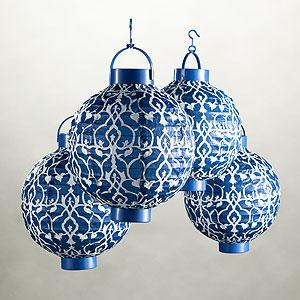 Limoge Timber Battery-Operated Lanterns, Pack of 4, Lighting| Home Decor, World Market