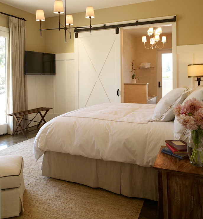 Bathroom Barn Door Transitional Bedroom Michael