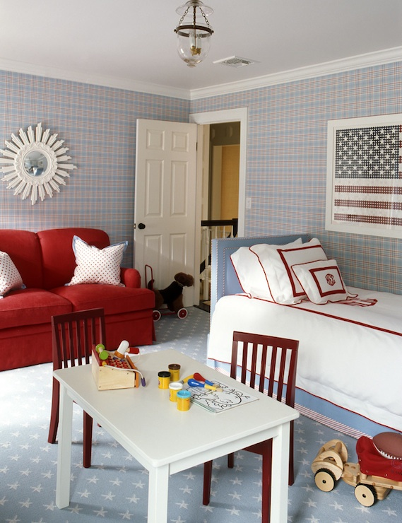 Red white and blue boy 39 s room traditional boy 39 s room - Red white and blue room decor ...