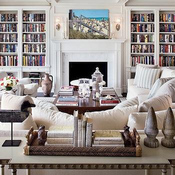 Fireplace Built Ins, Traditional, living room, Architectural Digest