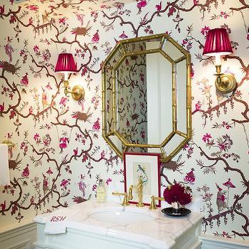 Bamboo Mirror, Transitional, bathroom, Ashley Whittaker Design