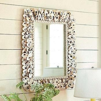 Mirrors - Oyster Shell Mirror | European-Inspired Home Decor | Ballard Designs - oyster, shell, mirror