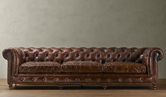Restoration Hardware Kensington Leather Sofa Look 4 Less