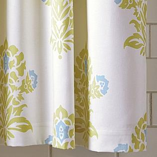 Bath - Jaipur Shower Curtain | Serena & Lily - celery, jaipur, shower, curtain