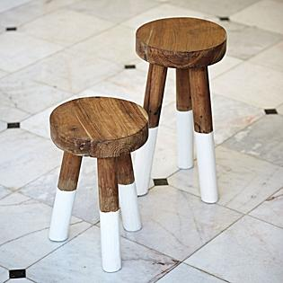 Bath - Dip-Dyed Stools | Serena & Lily - dip-dyed, stools