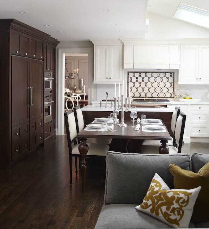 Chocolate Brown Cabinets  Contemporary  kitchen  Khachi Design