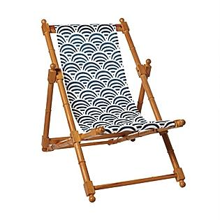 Seating - Outdoor Preview - Navy Soleil Sling Chair | Serena & Lily - navy, soleil, sling, chair
