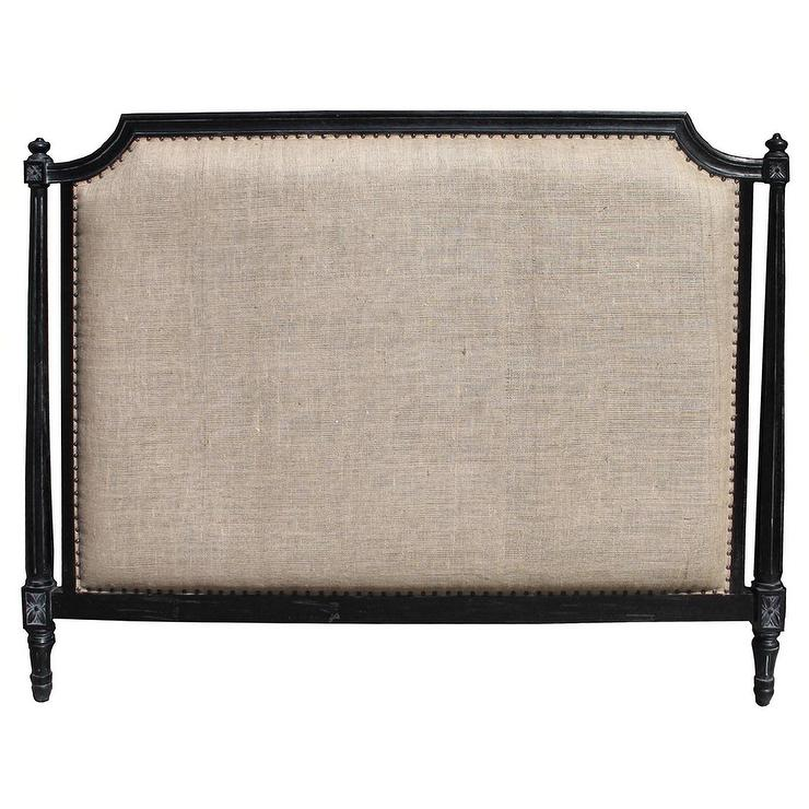 Beds/Headboards - Isabelle Headboard Hand Rubbed Black - isabelle, headboard, hand rubbed black