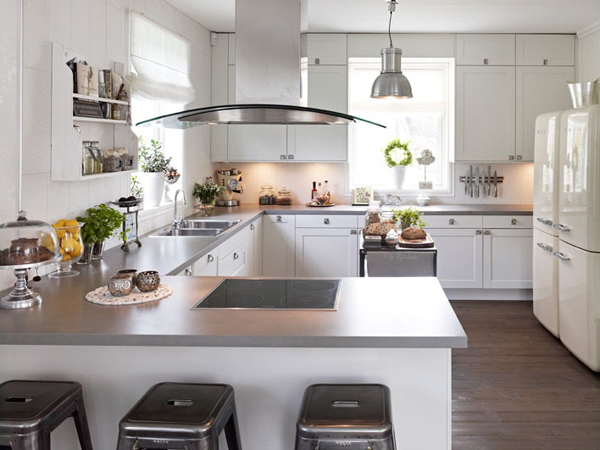 Gray Kitchen Countertops  Contemporary  kitchen  Hus & Hem